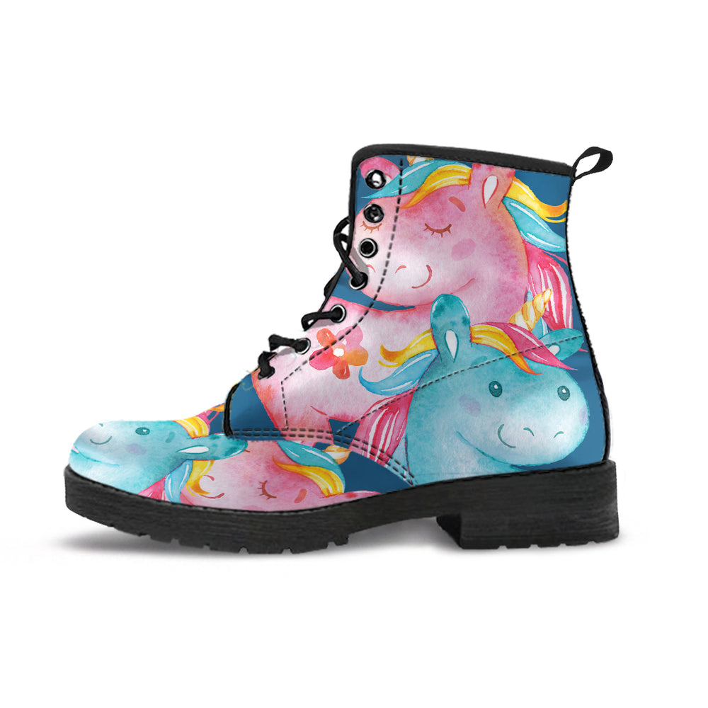 Unicorn Medley Blue Women's Leather Boots