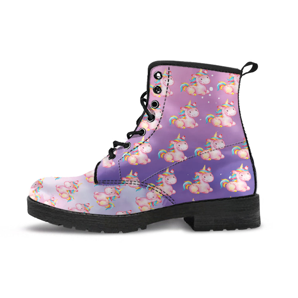 Mini Unicorn Stardust Purple Women's Leather Boots