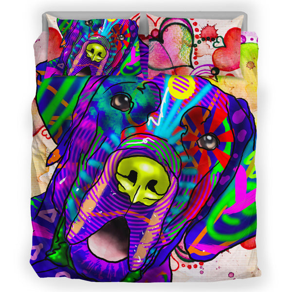 Great Dane Dog Breed Duvet Cover Bedding Set (Watercolor Dreams)