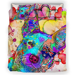 Australian Cattle Dog Breed Duvet Cover Bedding Set (Watercolor Dreams)