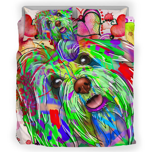 Bichon Havanese Dog Breed Bed Sheets Duvet Cover Bedding Set (Watercolor Dreams)
