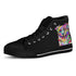 Australian Shepherd Dog Men's Plain Black High Top Canvas Shoes (Black Sole)