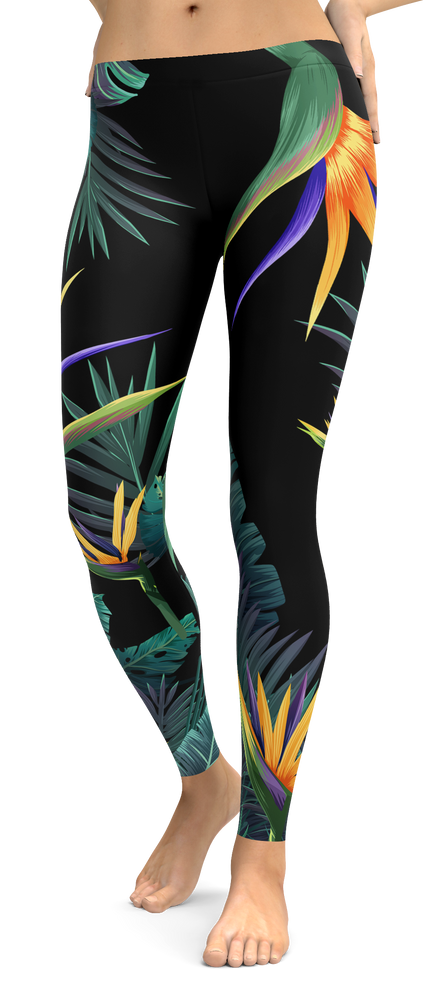 Bird Of Paradise Tropical Leggings