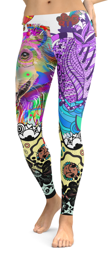 Australian Shepherd Dog Breed Leggings