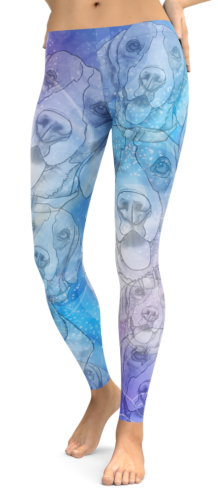 Beagle Dog Breed Leggings (Blue Dreams)