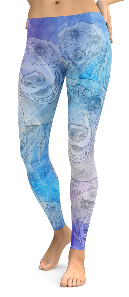 Dachshund Dog Breed Leggings (Blue Dreams)