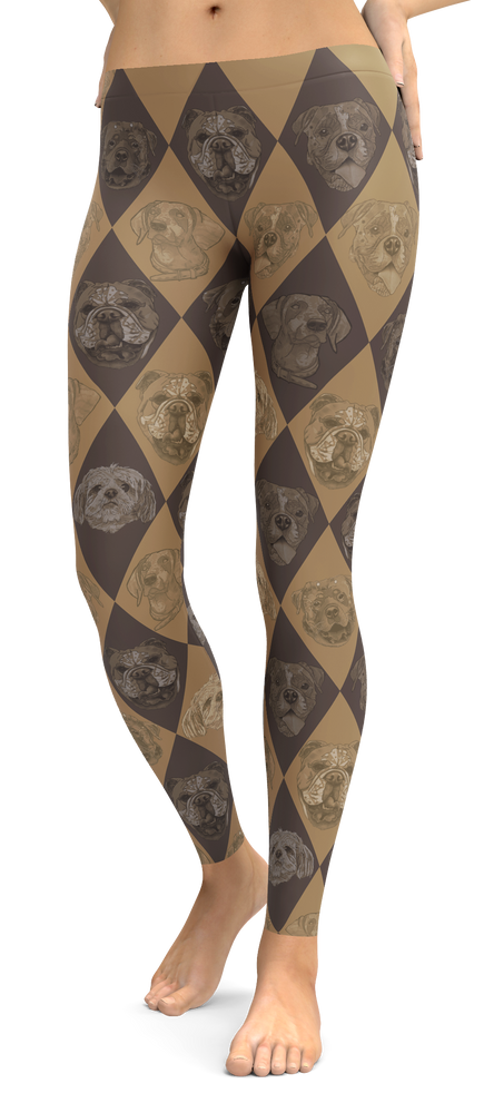 Dog Lovers Patterned Leggings