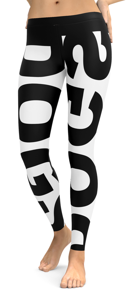 Dog Lovers Black And White Leggings