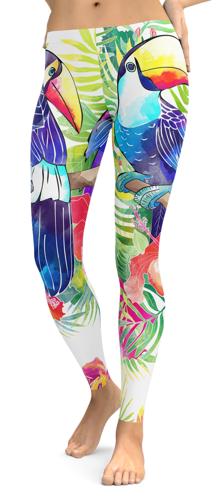 Toucan Tropical Bird Leggings