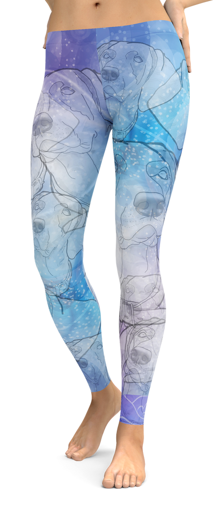 Deutsch Kurzhaar Dog Breed Leggings (Blue Dreams)