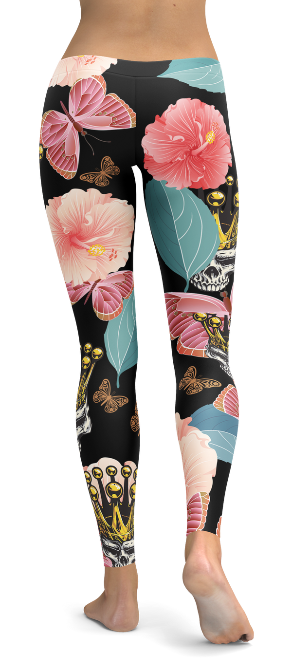 Butterfly Skull King Leggings