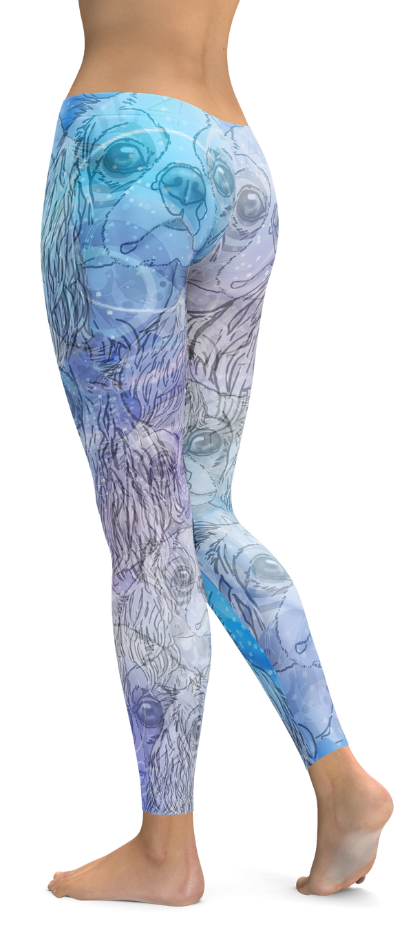 Cavalier King Charles Spaniel Dog Breed Leggings (Blue Dreams)