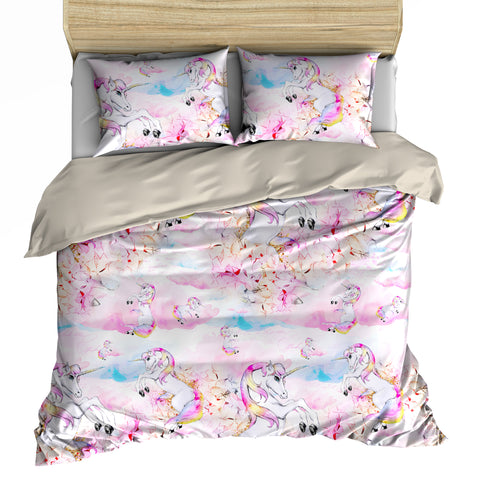 Excellent Rainbow Clouds Unicorn Bedding Set - Duvet, Pillow Cases [Twin  FT72