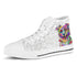Australian Shepherd Women's Dog Breed High Top Canvas Shoes (Light Love Doodles)