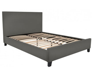 Tyler Upholstered Queen Bed in Dark Grey - Aus Wide Free Shipping