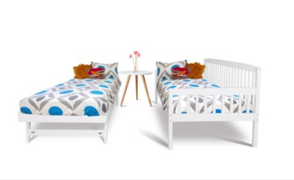 Wooden Bed Frame with Trundle - Single - FREE DELIVERY