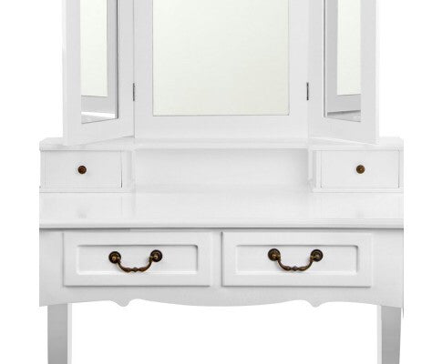 4 Drawer Dressing Table w/ Mirror - FREE DELIVERY