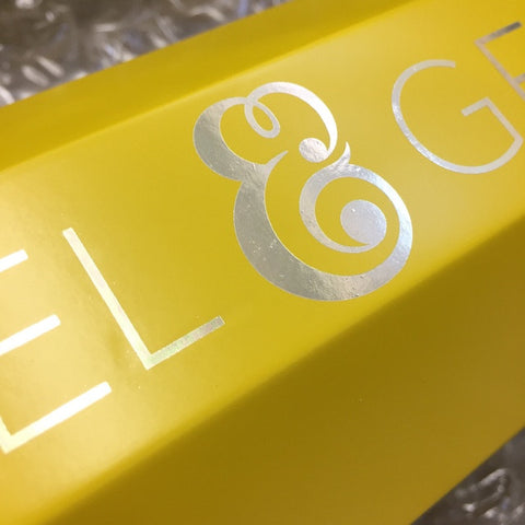 All gold foil type is carefully applied by hand.