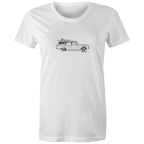 Falcon Wagon on the Side - Womens Crew T-Shirt
