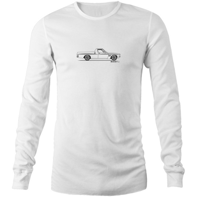 Ute on the Side Mens Long Sleeve T-Shirt