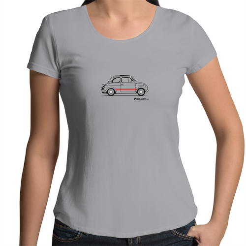 Fiat Side - Womens Scoop Neck T-Shirt