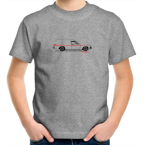 Panel Van on the Side - Kids Youth Crew T-Shirt