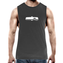 VW Beetle in my Rearview Mens Barnard Tank Top Tee
