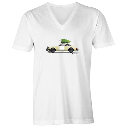 Christmas Porsche 911 Safari  Mens V-Neck Tee