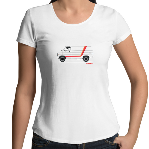 Chevy Van Side- Womens Scoop Neck T-Shirt (Print on Demand)