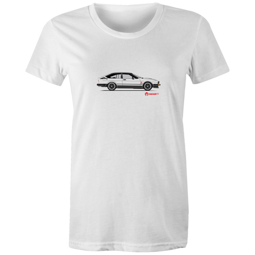 Alfa GTV6 Side - Womens Crew T-Shirt (Print on Demand)