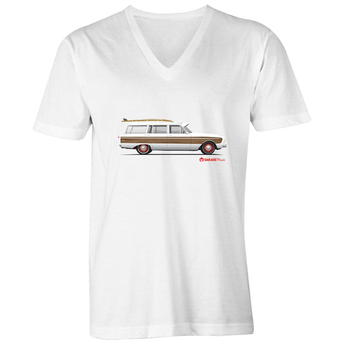 Falcon Surfing Wagon Mens V-Neck Tee