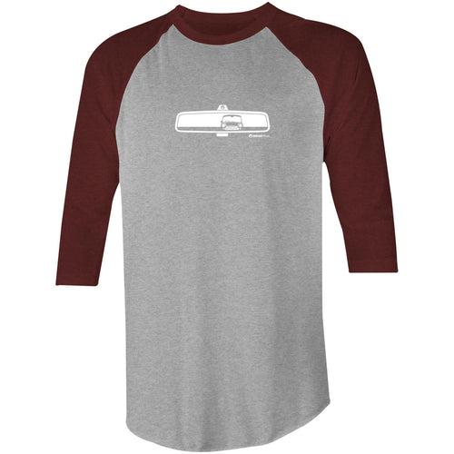 Mini in My Rearview Raglan 3/4 Sleeve T-Shirt