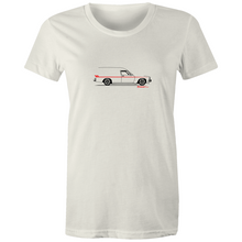 Panel Van on the Side - Women's Maple T'shirt (Print on Demand)