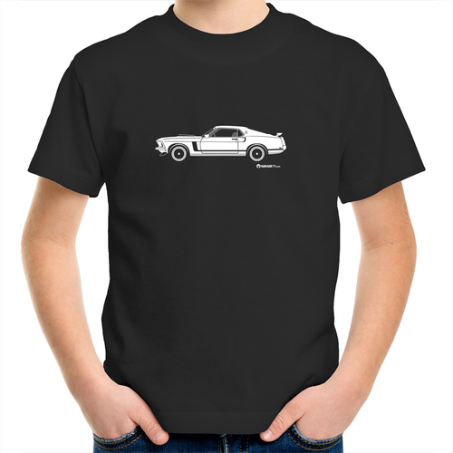 Mustang -  Kids Youth Crew T-Shirt (Print on Demand)