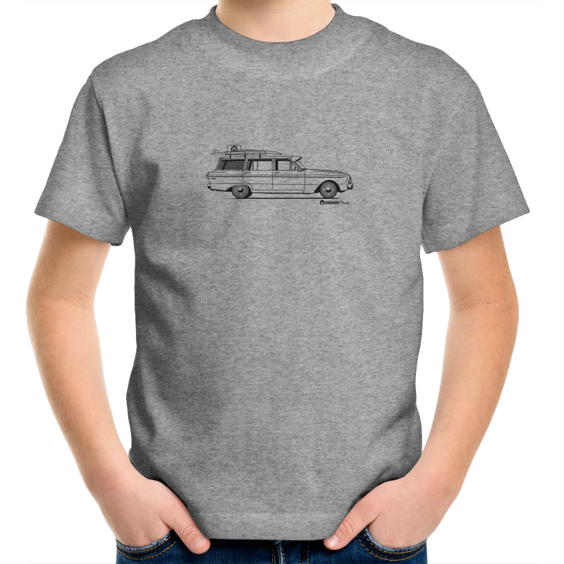 Falcon on the Side - Kids Youth Crew T-Shirt (Print on Demand)