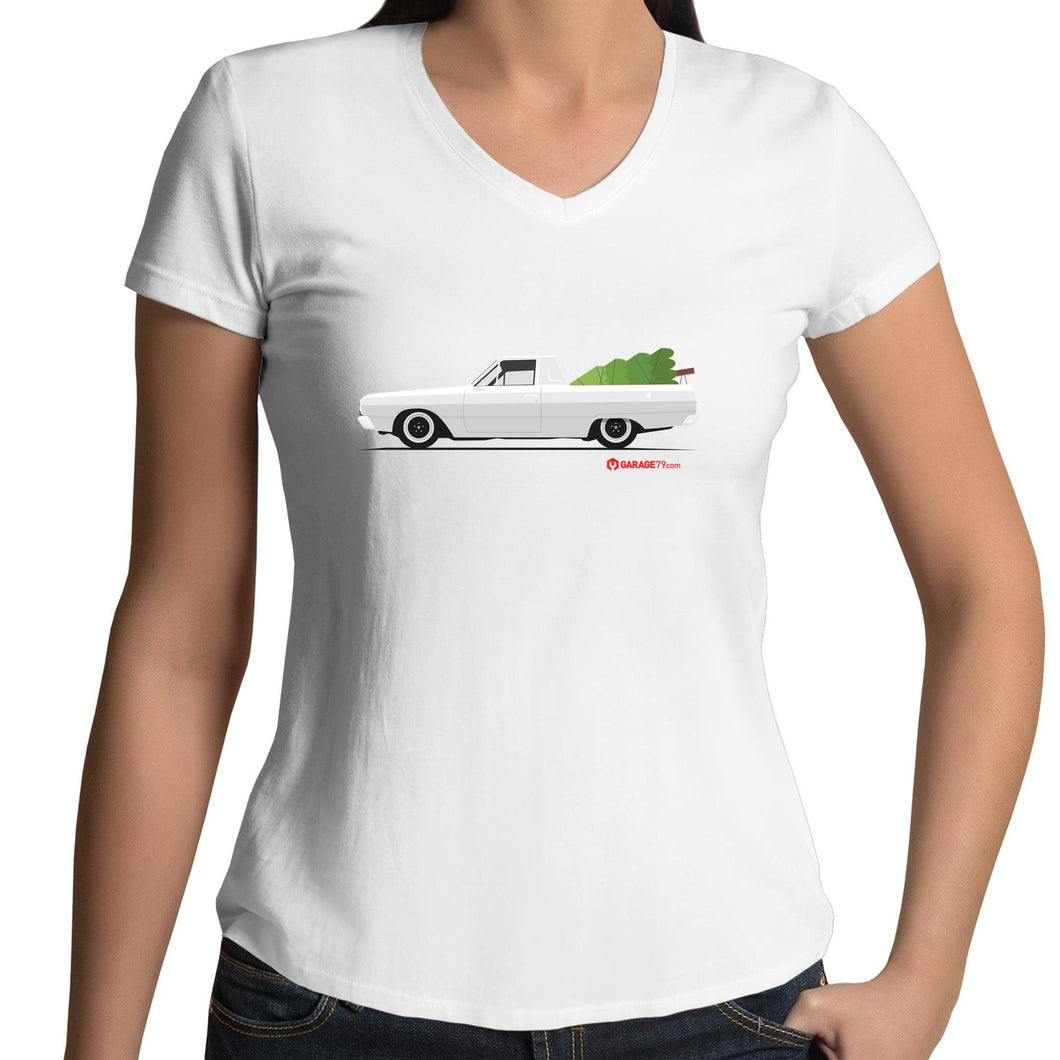 Valiant Christmas Ute Womens V-Neck T-Shirt