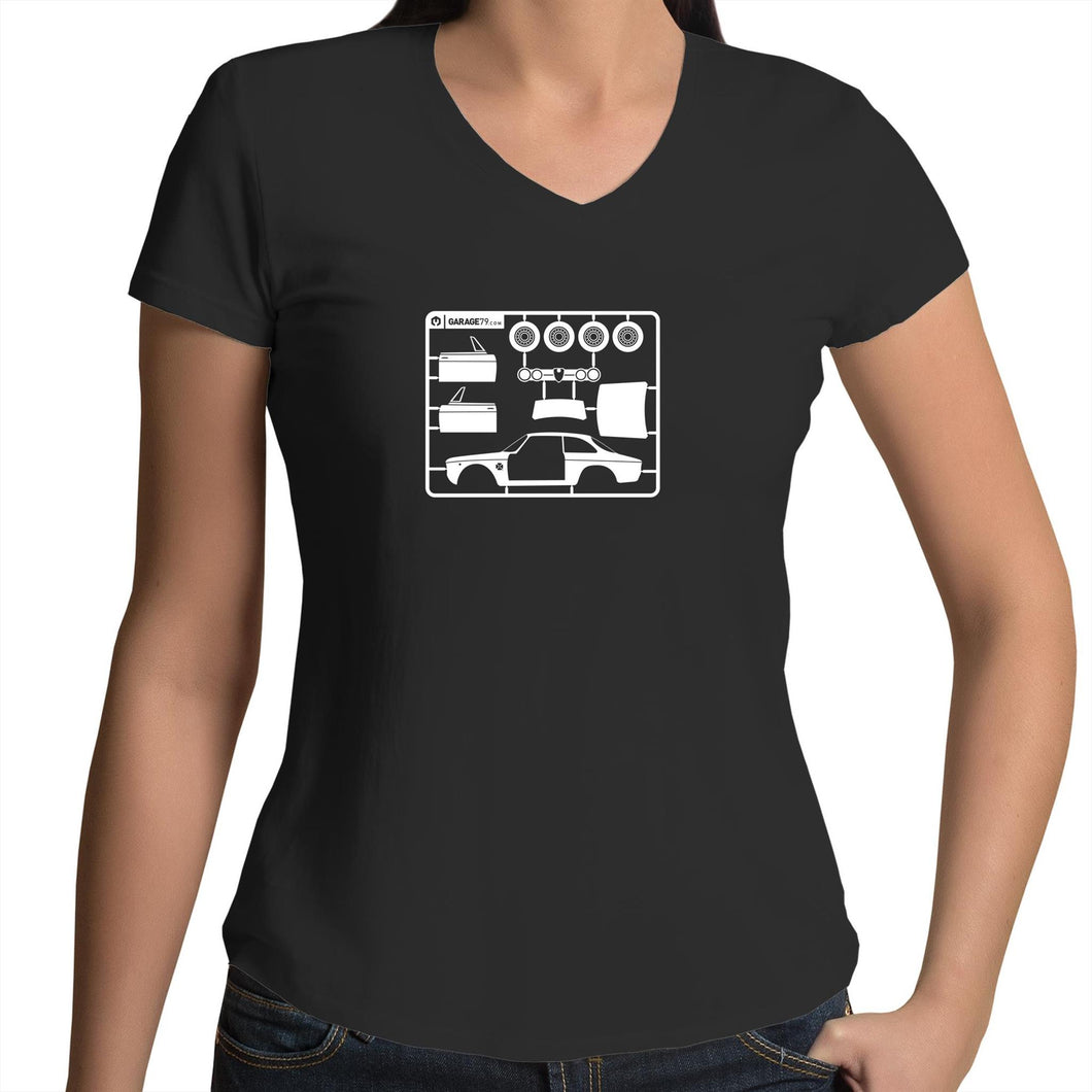 Make Your Own Alfa - Womens V-Neck T-Shirt
