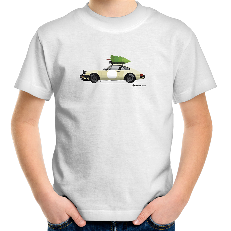 Christmas Porsche 911 Safari - Kid's T'shirt