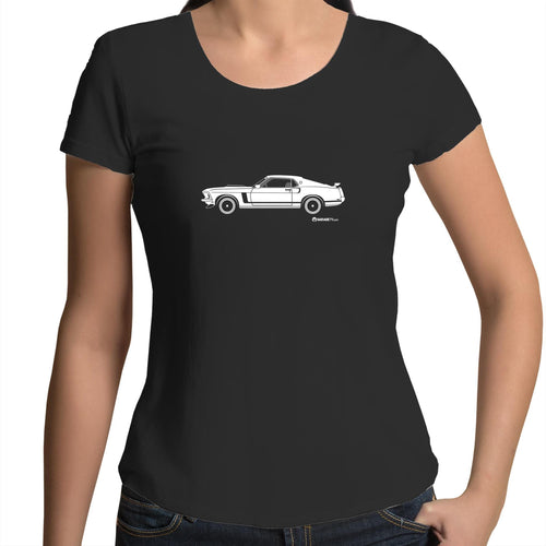 Mustang Side - Womens Scoop Neck T-Shirt