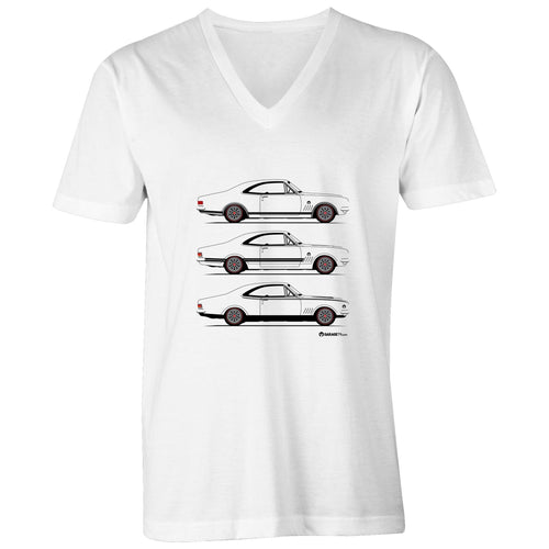 Monaro Triple Treat Mens V-Neck Tee