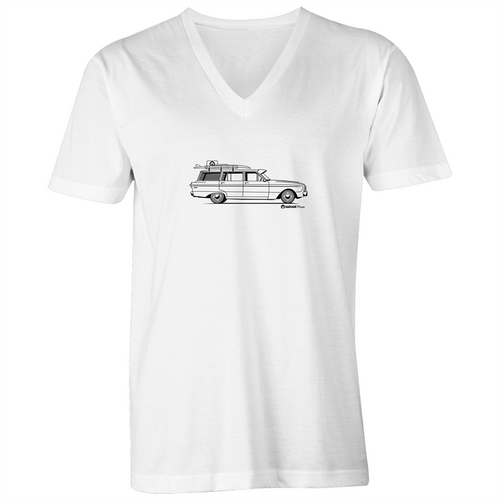 Falcon Wagon - Mens V-Neck Tee (Print on Demand)