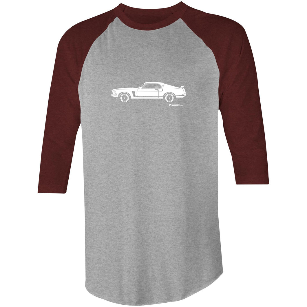 Mustang Side View 3/4 Sleeve T-Shirt