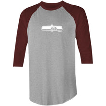 Mustang Rearview Mirror 3/4 Sleeve T-Shirt