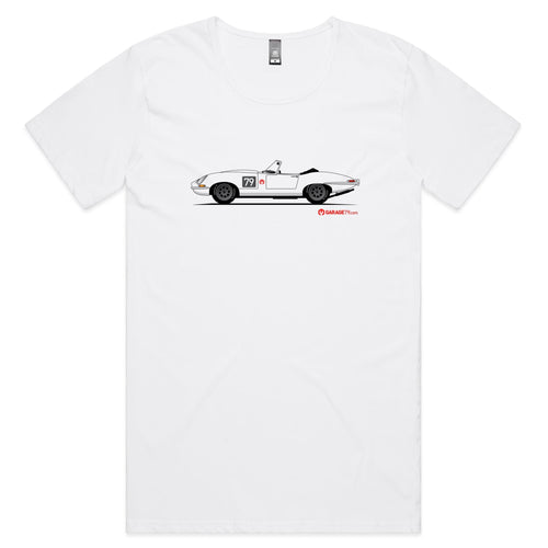 Jaguar E-Type Series One Roadster Mens Scoop Neck T-Shirt