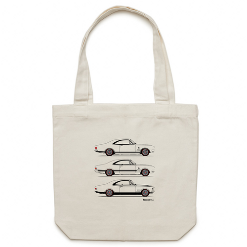 Monaro Triple Treat - Canvas Tote Bag