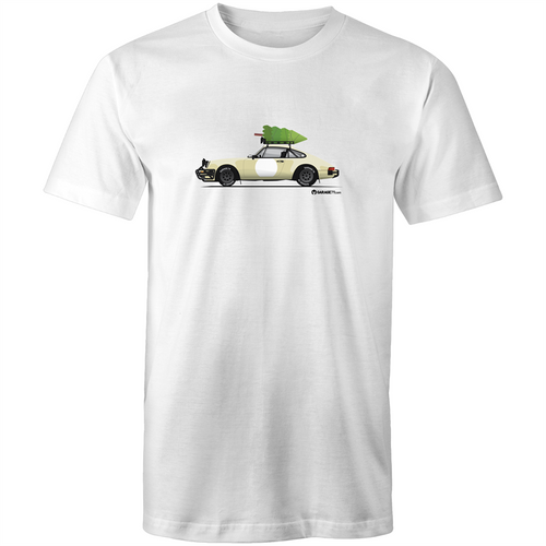 Christmas Porsche 911 Safari Tree - Men's T'shirt