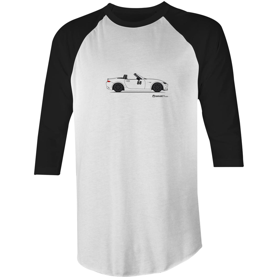 Randy's MX5 Raglan 3/4 Sleeve T-Shirt