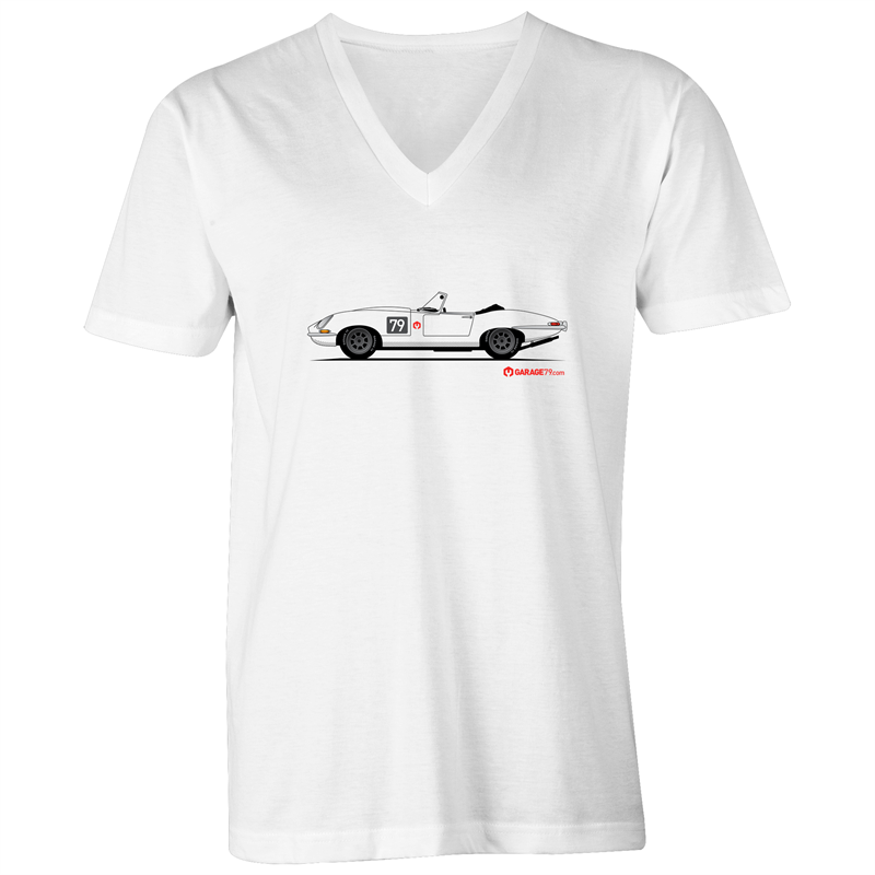 Jaguar E-Type Series One Roadster  - Mens V-Neck Tee