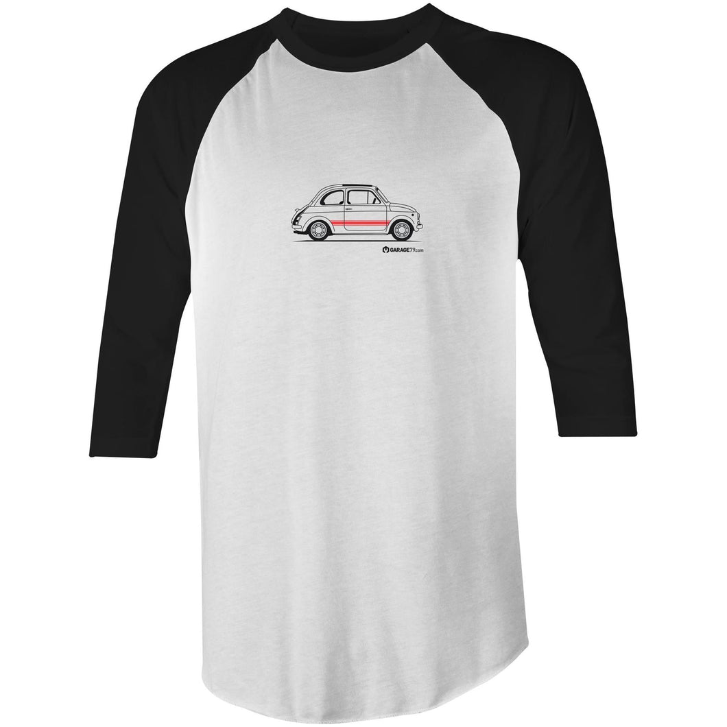 Fiat Side with Red 3/4 Sleeve T-Shirt