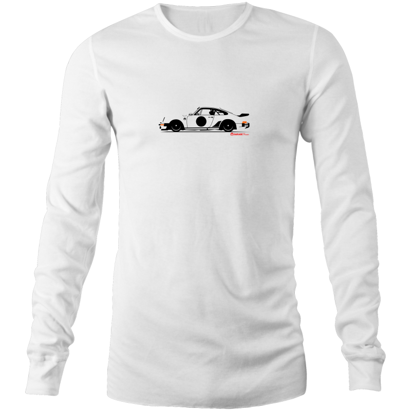 Porsche on the Side Long Sleeve T-Shirt - Garage79